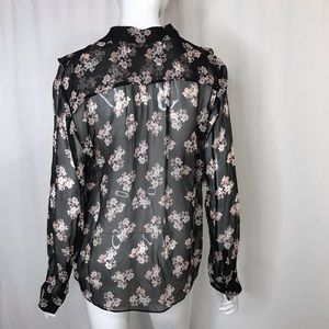kate spade Tops - Kate Spade 100% Silk Floral Button Down Top Large